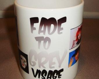 Personalised Visage Fade to Grey Mug Style 1 Music Mug Personalised Mugs Personalised Gifts Gift Shop