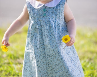Pin-Tucked Dress PDF Pattern (size 12-18 months)