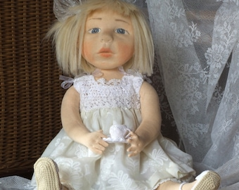 "Agatka:  22"" OOAK rag doll from Land of Serenity"