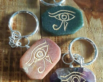Eye of Horus, Gemstone Keychain