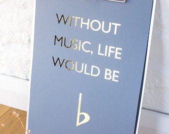 Without music foil print