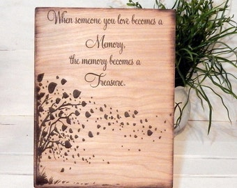 Personalized Sign,Memorial Sign, Memorial Gift, Sympathy Gift, Condolence, Memory Sign