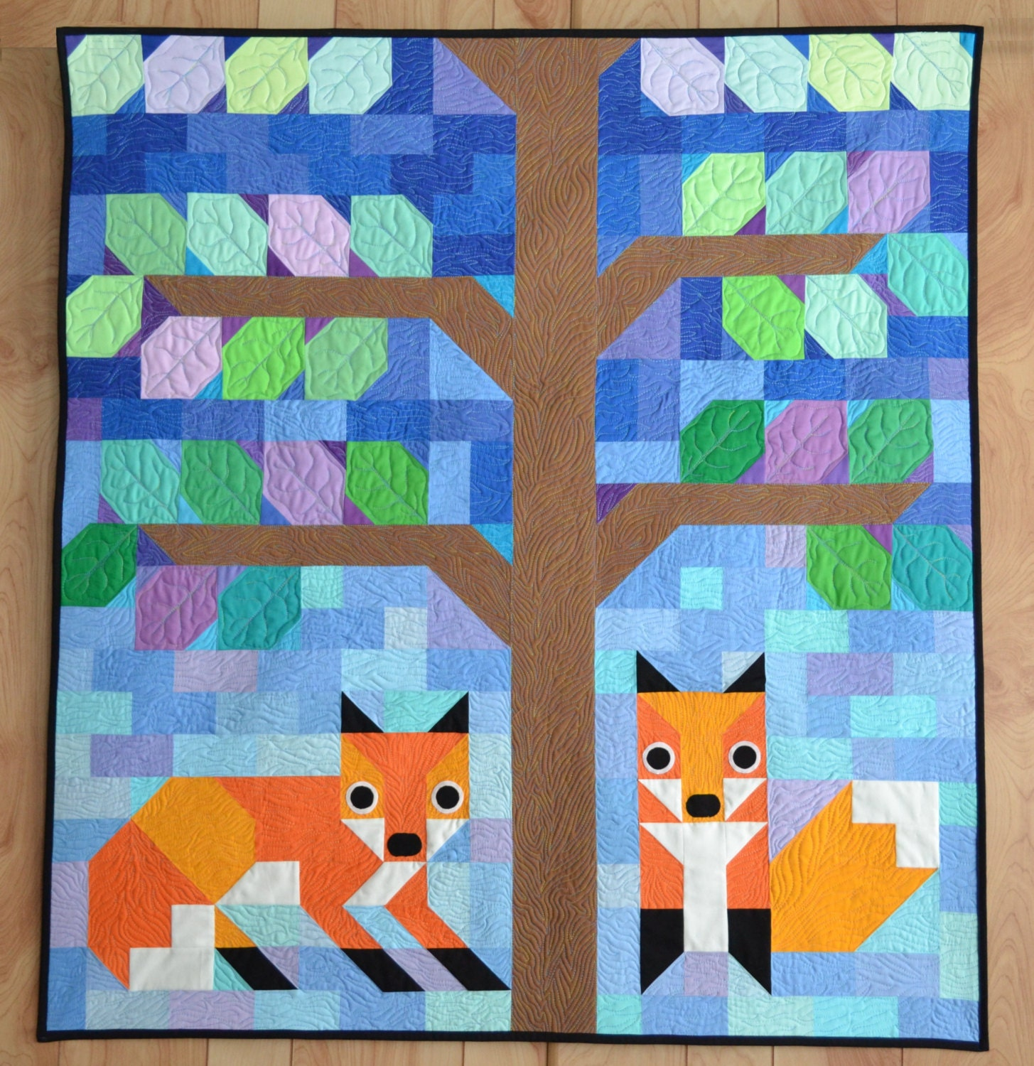 Modern Foxes quilt pattern Wall Quilt baby quilt Pattern : quilt patterns pdf - Adamdwight.com
