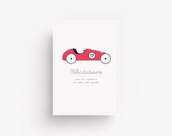 Congratulations card with little car