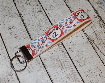 Dr. Seuss Key Fob Wristlet Thing 1 and Thing 2
