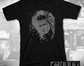 labyrinth - jareth - black t-shirt - david bowie - RIP