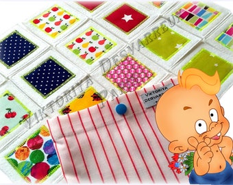 Fabric Memory Game, Color Matching Game 20 Cards , Busy Bags, Toddler Game, Memory Puzzle, Matching Envelope, Travel Activity Toy for Kids