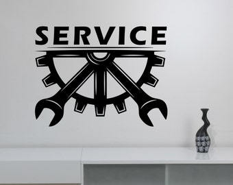 Repair Service Logo Vinyl Wall Decal Custom Sticker Auto Car Salon Sign Garage Decorations Mechanic Station Window Removable Art Decor aus1