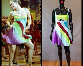 """MADE TO ORDER """"13 going on 30"""" Inspired Multi-Colored Dress"""