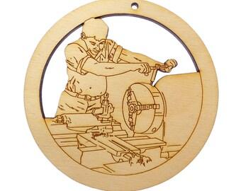 Personalized Machinist Ornament - Machinist Gifts - Gift for Machinist - Machinist Christmas Ornaments