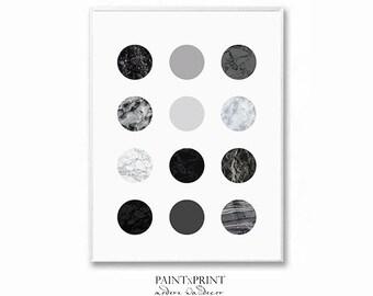 Black and white print, Geometric print, Wall art prints, Abstract art print, Large wall art printable, Geometric poster, Abstract wall art