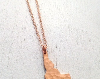 Hammered Idaho in Rose Gold