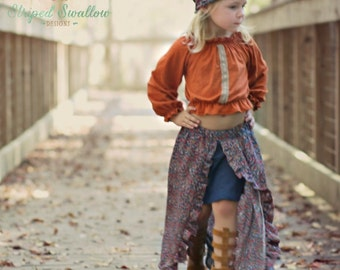 Festival Skirt PDF Sewing Pattern ... Sizes 2T-14yrs