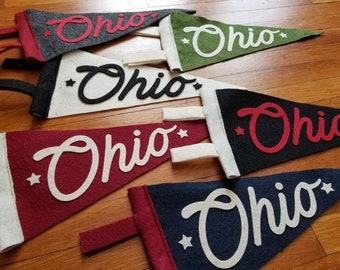 Ohio Mini Felt Pennants
