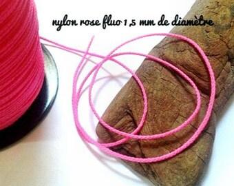 COOL price 5 Metres of neon pink nylon braid