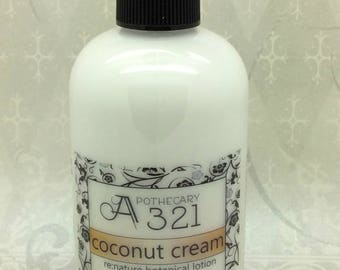 Coconut Cream Re:Nature Botanical Vegan Lotion Natural Paraben Free Lotion