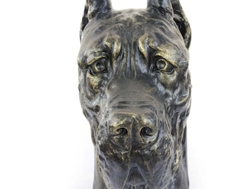 Urn for dog ashes - Great Dane statue. ArtDog Collection