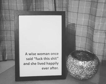 A wise woman print
