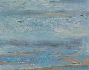 Solitude, Original Acrylic Collage Painting