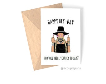 Beyonce card etsy beyonce birthday beyonce birthday card beyonce pun beyonce card beyonce gift bookmarktalkfo Image collections