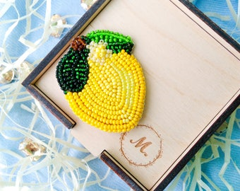 Brooch Bright Lemon