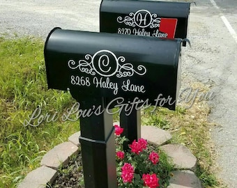 Mailbox Decal, Address Decal, mailbox monogram, mailbox initial, mail box decal, personalized mailbox, address monogram, house number decal