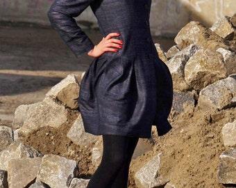 "womens coat ""tulip coat"" blue, silk, summer coat"