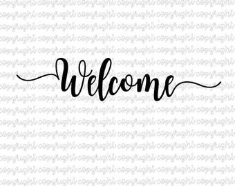 Welcome SVG DXF file - silhouette - cameo - cricut