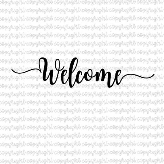 Download Welcome SVG DXF file silhouette cameo cricut