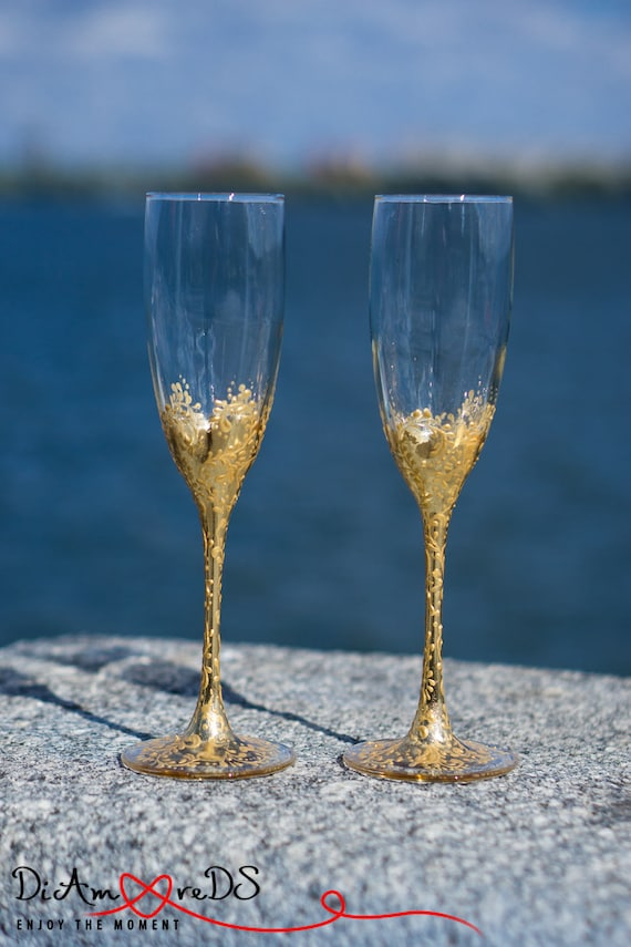 Wedding Champagne Flutes Rose Gold Champagne Flutes Gold