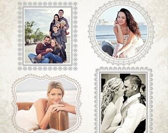 Digital Frames Set - Frame It Vol7 - Templates for Photographers - ID099, Instant Download