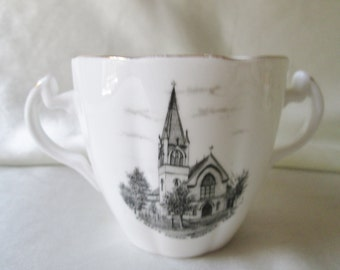 Unmatched Soup Cup.....In Need of a Saucer.....Transfer Decoration...St. Mary's Church, Bridgefield, Connecticut,U. S.