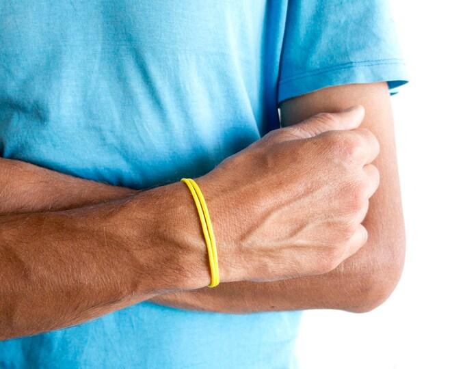 Wanderlust Bracelet Mens, Wanderlust Gift, Wanderlust Jewelry. Wrap String Bracelet Travel Jewellery Presents Idea