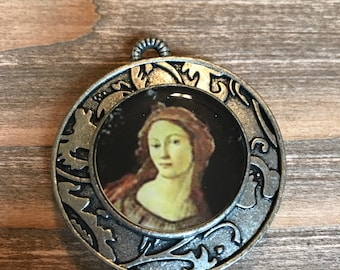 Focal Pendant/medieval jewelry pendant/renaissance necklace pendant/old world jewelry supplies