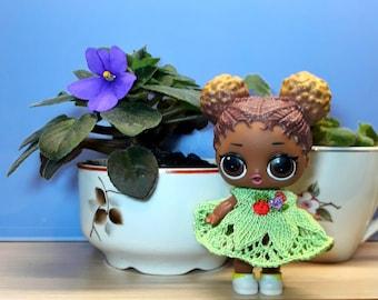 Knitting dress for l.o.l. doll