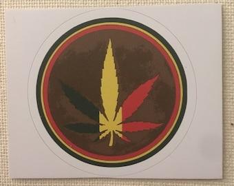 Rasta Herb Sticker