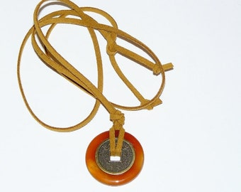 Mystic Necklace- Carnelian - Energy,  Sense Of Humor And Calm