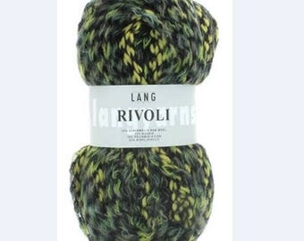 beautiful LANG YARNS RIVOLI black/green/yellow wool Pincushion 100 gr