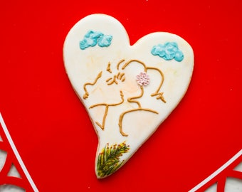 """Sugar cookie """"Kissing In The Sand"""""""