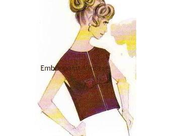 Plus Size (or any size) Vintage 1969 Evening Jacket Pattern - PDF - Pattern No 67 Candace