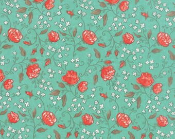 Moda SWEETNESS Quilt Fabric 1/2 Yard By Sandy Gervais - Sky 17851 12