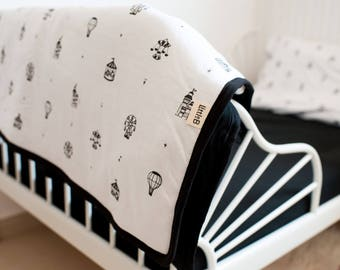 baby bedding | crib bedding | organic cotton | black and white bedding