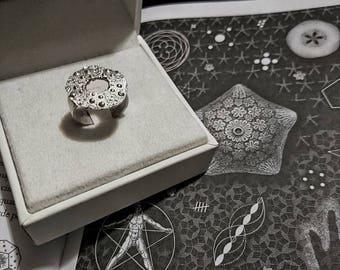 """Neptune's daughter"" Sea Urchin ring"