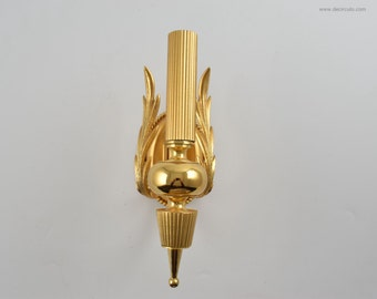 Sciolari beautiful hollywood regency brass gold plated sconce by Gaetano Sciolari
