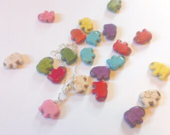 Colorful Elephant Bracelet