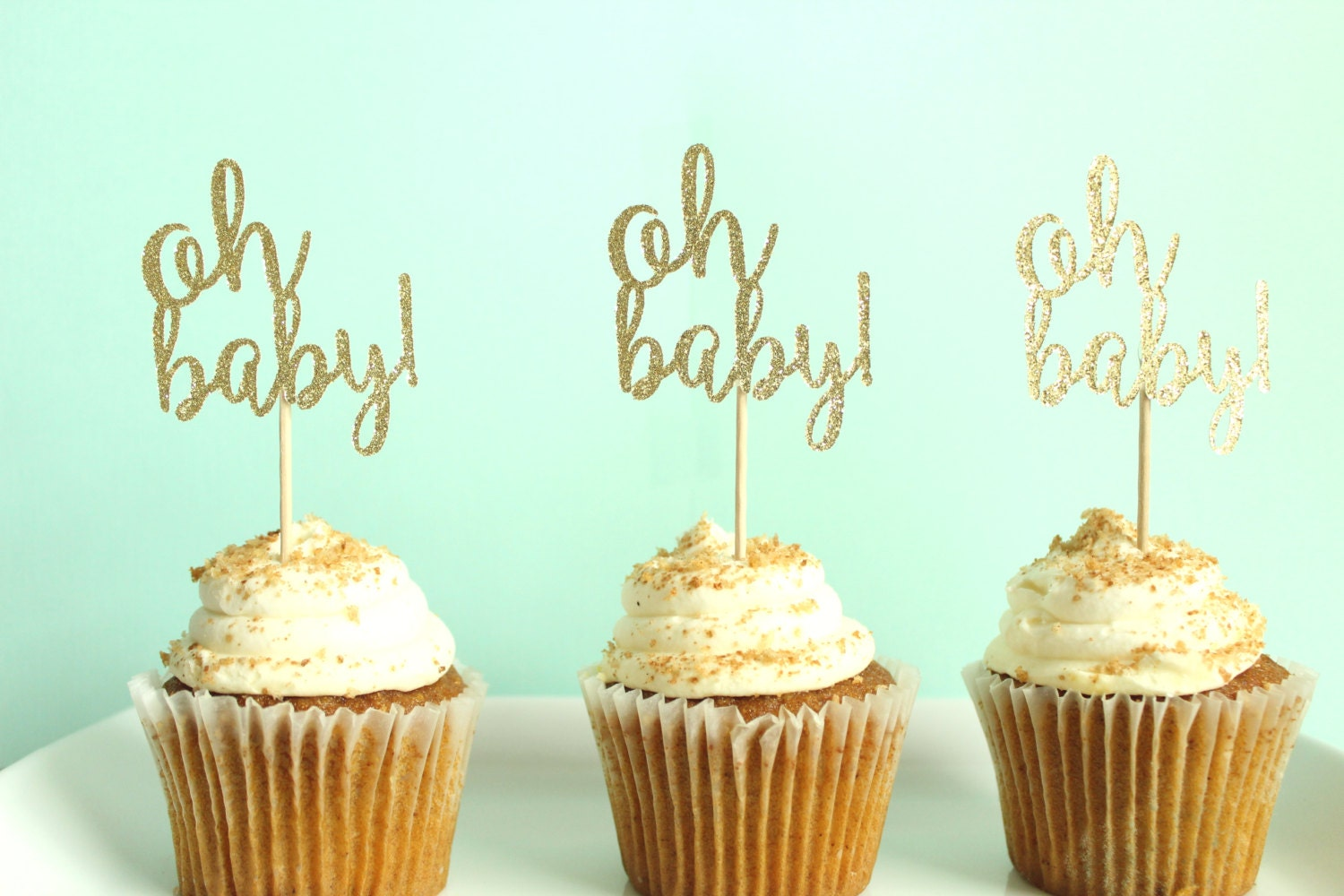 gender reveal cake toppers oh baby cupcake toppers baby shower cupcake toppers gender 4469