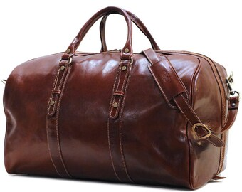 Venezia Grande, Leather Duffel Bag, Weekend bag, Duffle Bag, mens duffel bag, Gym Bag, overnight bag (18G)