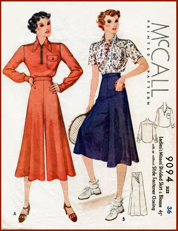 1930er Jahren 30er Jahre Jahrgang Nähen Schnittmuster Bluse &