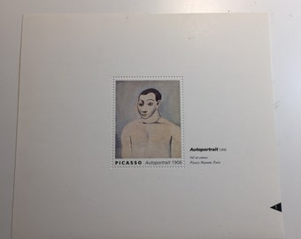 Picasso Self Portrait French Artists Stamps