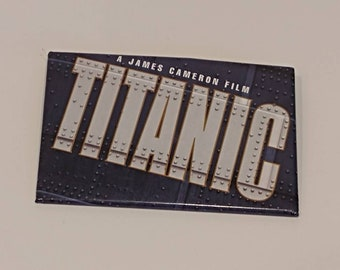 Titanic Movie Pin Badge - James Cameron Movie Pin - Free Shipping in Canada and U.S.A